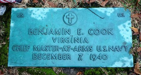 COOK, BENJAMIN E. - Portsmouth (City of) County, Virginia | BENJAMIN E. COOK - Virginia Gravestone Photos
