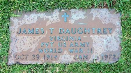 DAUGHTREY, JAMES T. - Portsmouth (City of) County, Virginia | JAMES T. DAUGHTREY - Virginia Gravestone Photos