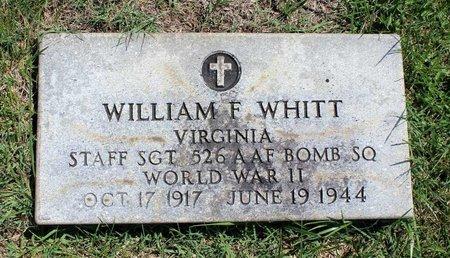 WHITT, WILLIAM F. - Radford (City of) County, Virginia   WILLIAM F. WHITT - Virginia Gravestone Photos