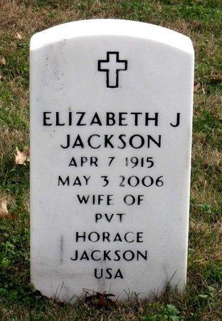 JACKSON, ELIZABETH J. - Richmond (City of) County, Virginia   ELIZABETH J. JACKSON - Virginia Gravestone Photos
