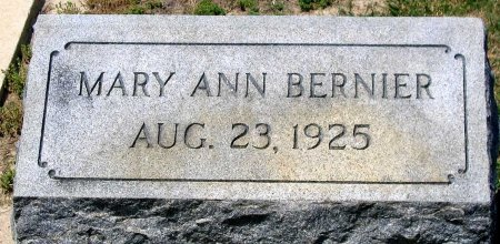 BERNIER, MARY ANN - Richmond (City of) County, Virginia | MARY ANN BERNIER - Virginia Gravestone Photos