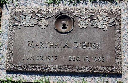 DEBUSK, MARTHA A. - Roanoke (City of) County, Virginia | MARTHA A. DEBUSK - Virginia Gravestone Photos