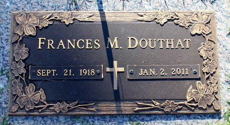 DOUTHAT, FRANCES M. - Roanoke (City of) County, Virginia | FRANCES M. DOUTHAT - Virginia Gravestone Photos