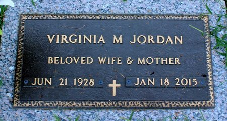 JORDAN, VIRGINIA M. - Roanoke (City of) County, Virginia | VIRGINIA M. JORDAN - Virginia Gravestone Photos