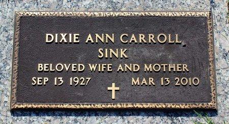 CARROLL SINK, DIXIE ANN - Roanoke (City of) County, Virginia | DIXIE ANN CARROLL SINK - Virginia Gravestone Photos
