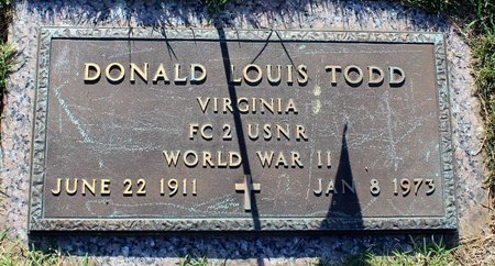 TODD, DONALD LOUIS - Roanoke (City of) County, Virginia | DONALD LOUIS TODD - Virginia Gravestone Photos