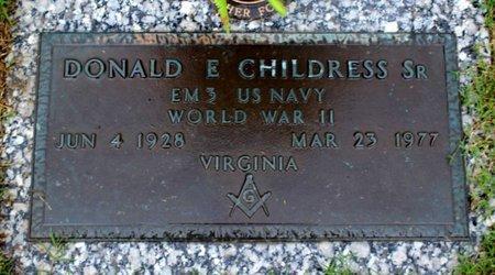CHILDRESS, DONALD E. SR. - Suffolk (City of) County, Virginia | DONALD E. SR. CHILDRESS - Virginia Gravestone Photos