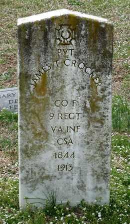 CROCKER, JAMES T. - Suffolk (City of) County, Virginia | JAMES T. CROCKER - Virginia Gravestone Photos