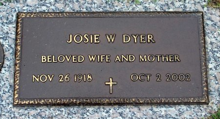 DYER, JOSIE W. - Suffolk (City of) County, Virginia | JOSIE W. DYER - Virginia Gravestone Photos