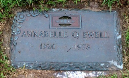 EWELL, ANNABELLE O. - Suffolk (City of) County, Virginia | ANNABELLE O. EWELL - Virginia Gravestone Photos