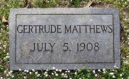 MATTHEWS, GERTRUDE - Suffolk (City of) County, Virginia   GERTRUDE MATTHEWS - Virginia Gravestone Photos