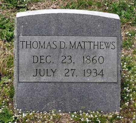 MATTHEWS, THOMAS D. - Suffolk (City of) County, Virginia | THOMAS D. MATTHEWS - Virginia Gravestone Photos