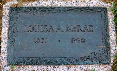 MCRAE, LOUISA A. - Suffolk (City of) County, Virginia | LOUISA A. MCRAE - Virginia Gravestone Photos