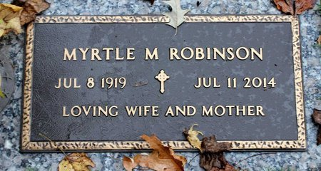ROBINSON, MYRTLE M. - Suffolk (City of) County, Virginia | MYRTLE M. ROBINSON - Virginia Gravestone Photos