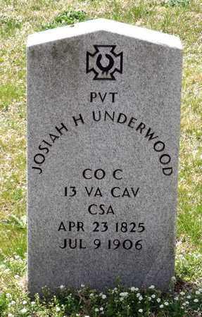 UNDERWOOD, JOSIAH H. - Suffolk (City of) County, Virginia   JOSIAH H. UNDERWOOD - Virginia Gravestone Photos