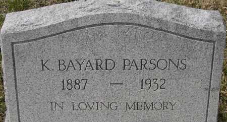 PARSONS, K BAYARD - Virginia Beach (City of) County, Virginia   K BAYARD PARSONS - Virginia Gravestone Photos