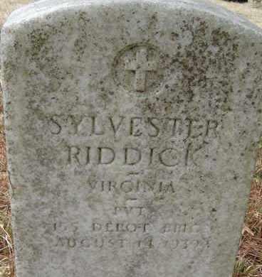 RIDDICK, SYLVESTER - Virginia Beach (City of) County, Virginia   SYLVESTER RIDDICK - Virginia Gravestone Photos