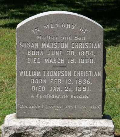 MARSTON CHRISTIAN, SUSAN - Williamsburg (City of) County, Virginia | SUSAN MARSTON CHRISTIAN - Virginia Gravestone Photos