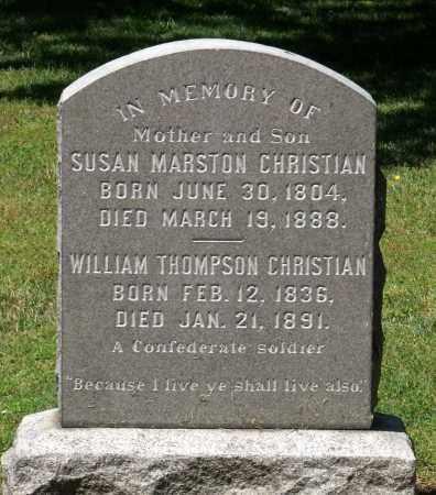CHRISTIAN, SUSAN - Williamsburg (City of) County, Virginia | SUSAN CHRISTIAN - Virginia Gravestone Photos
