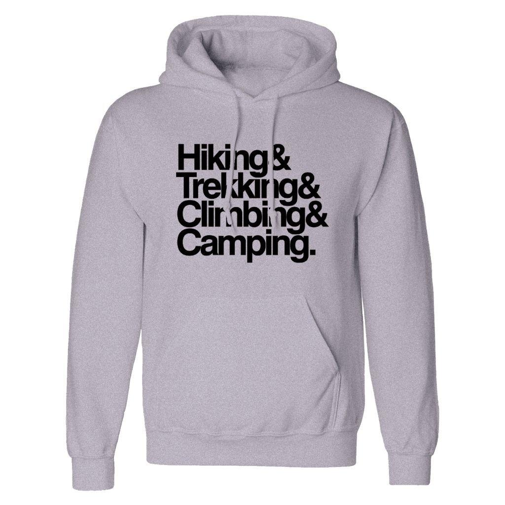 Blusa Moletom Canguru Com Capuz Cinza Unissex Hiking Trekking Climbing Camping