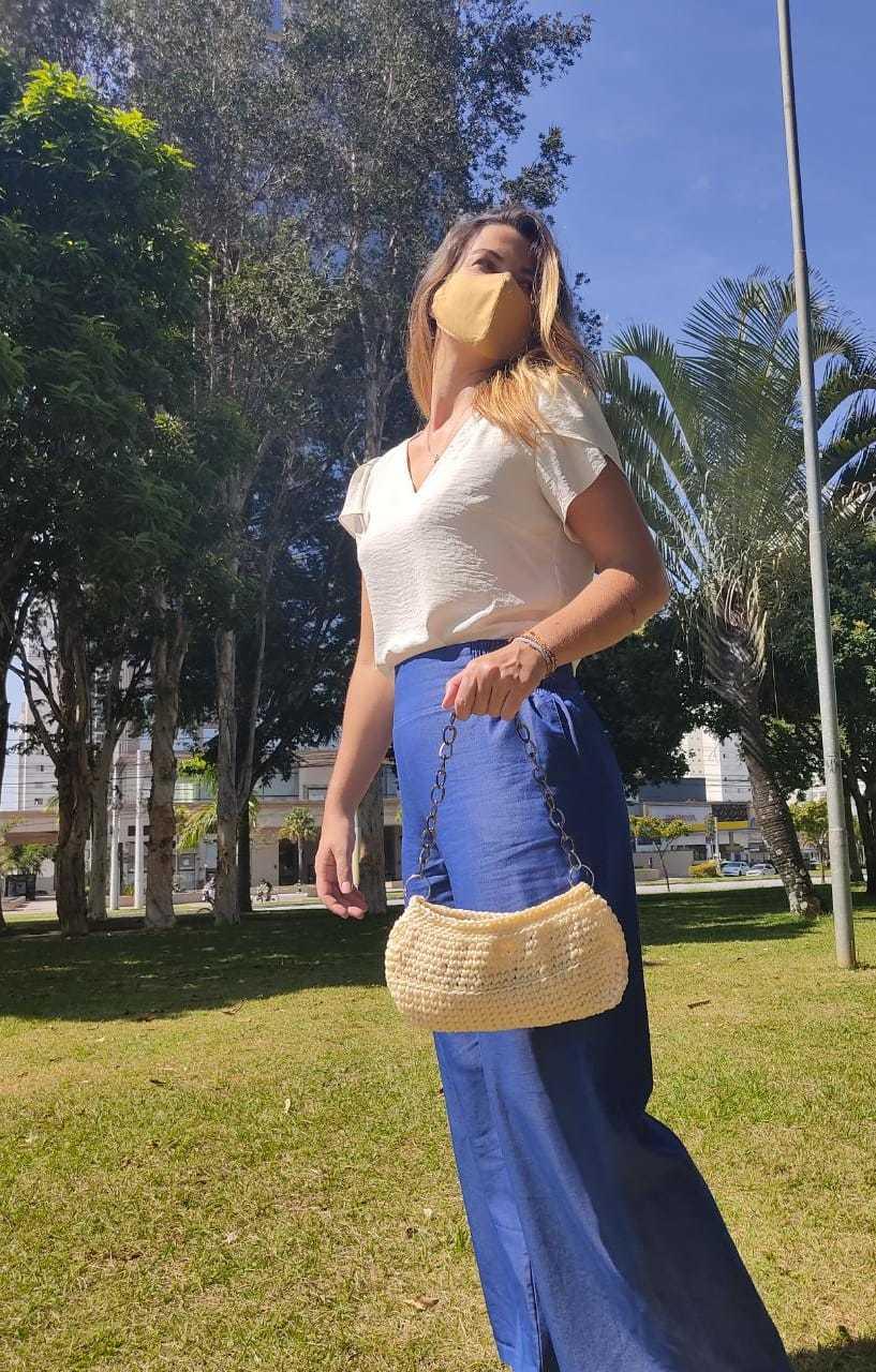 Bolsa em Crochê Baguete Laura