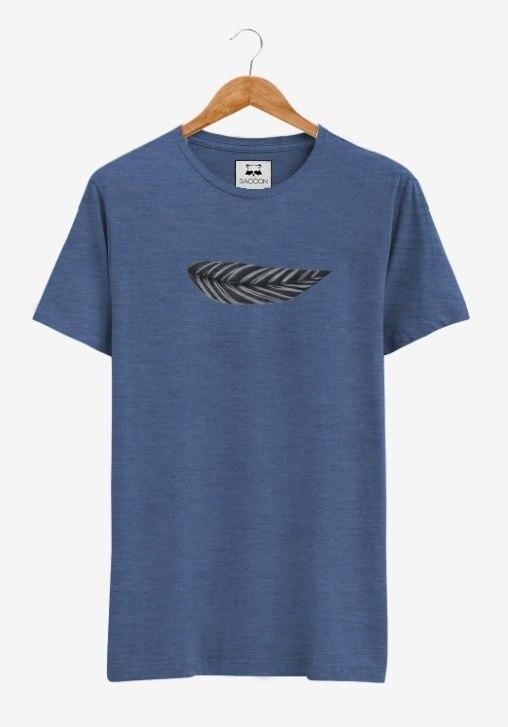 Camiseta Azul Mesclada Pena RACCON