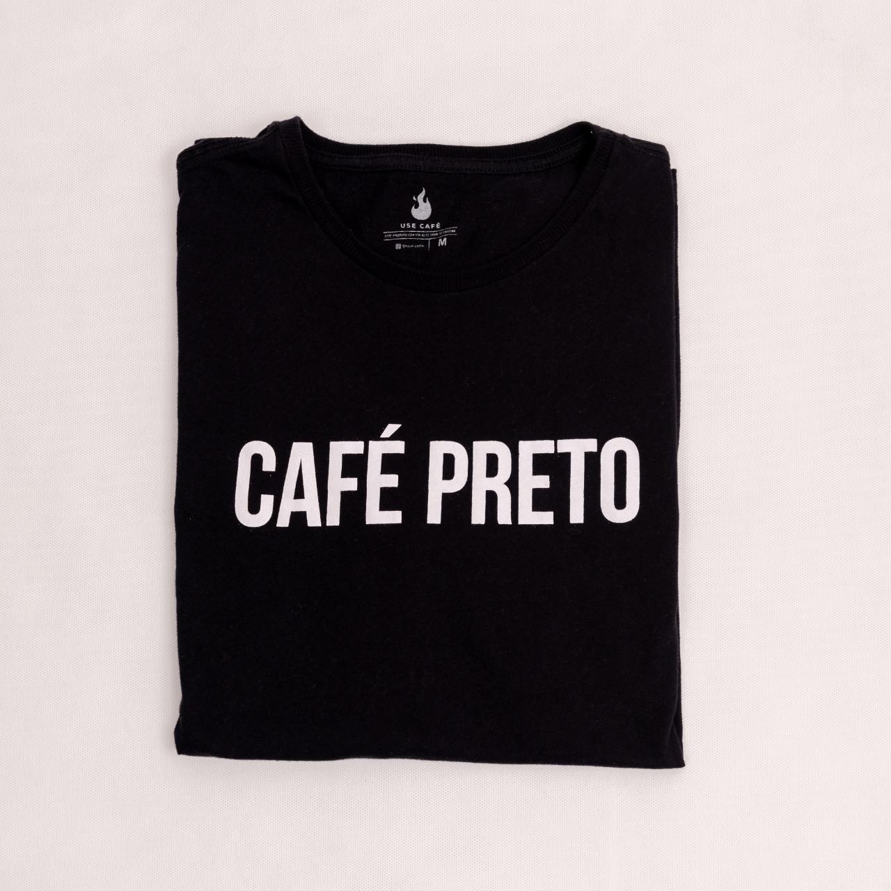 CAMISETA CAFÉ PRETO - 100% ALGODÃO - UNISSEX