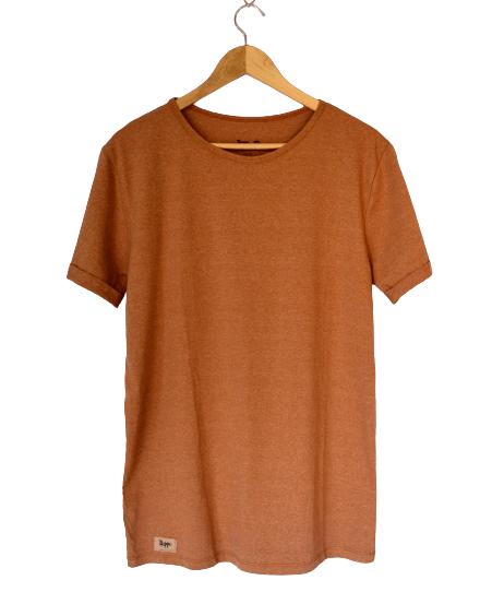Camiseta de Algodão Orgânico Naturalmente Marrom - trippi.