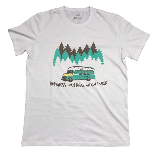 Camiseta Masculina Happiness Only Real When Shared