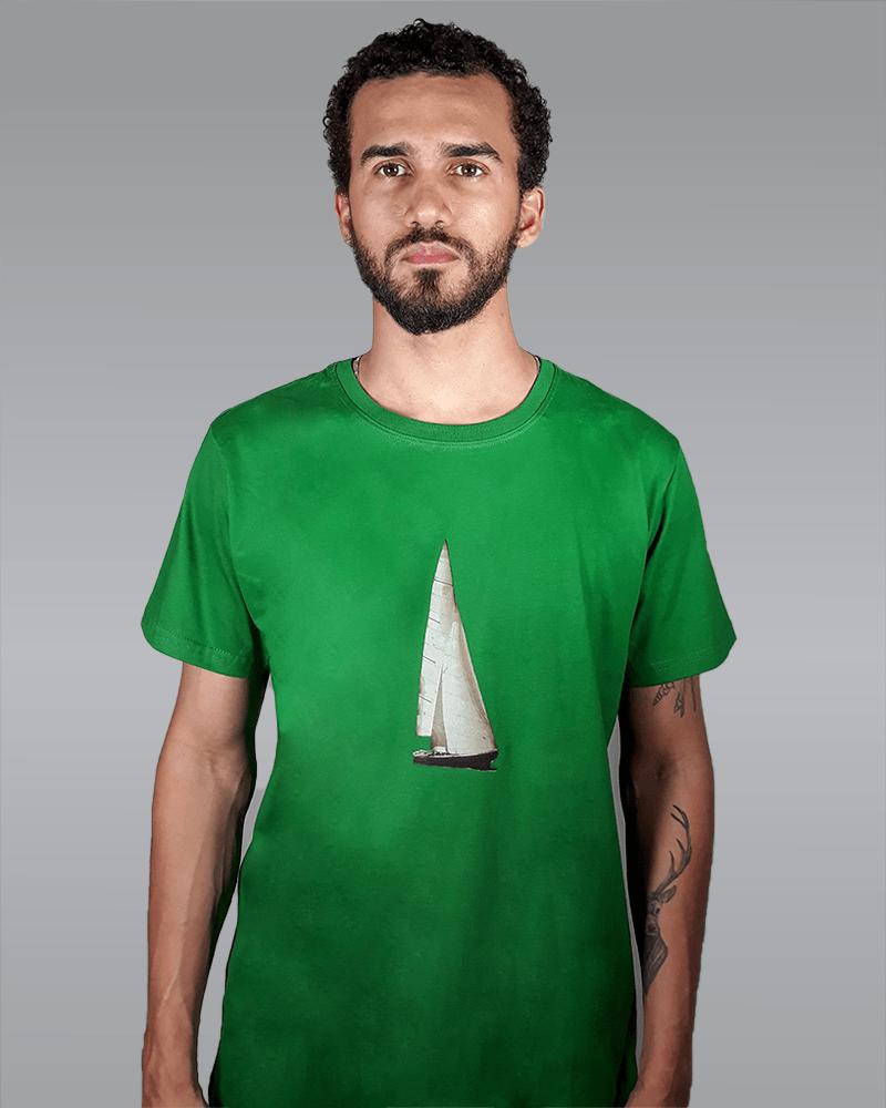 Camiseta Verde Barco RACCON
