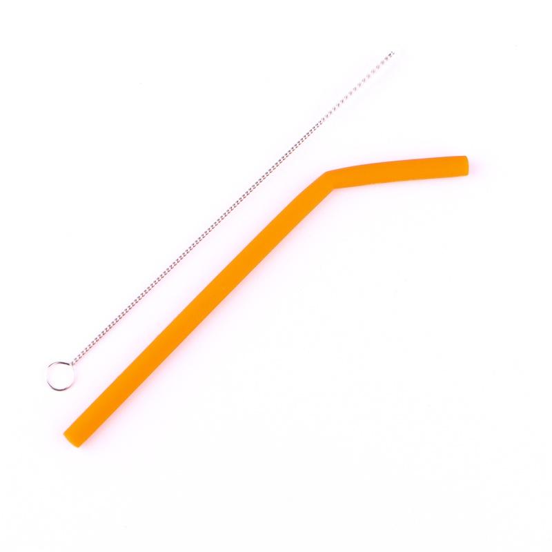Canudinho Reutilizável de Silicone 16 cm