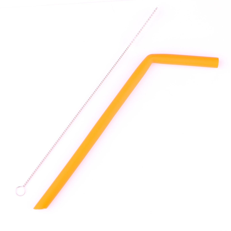 Canudo Reutilizável de Silicone 25 cm