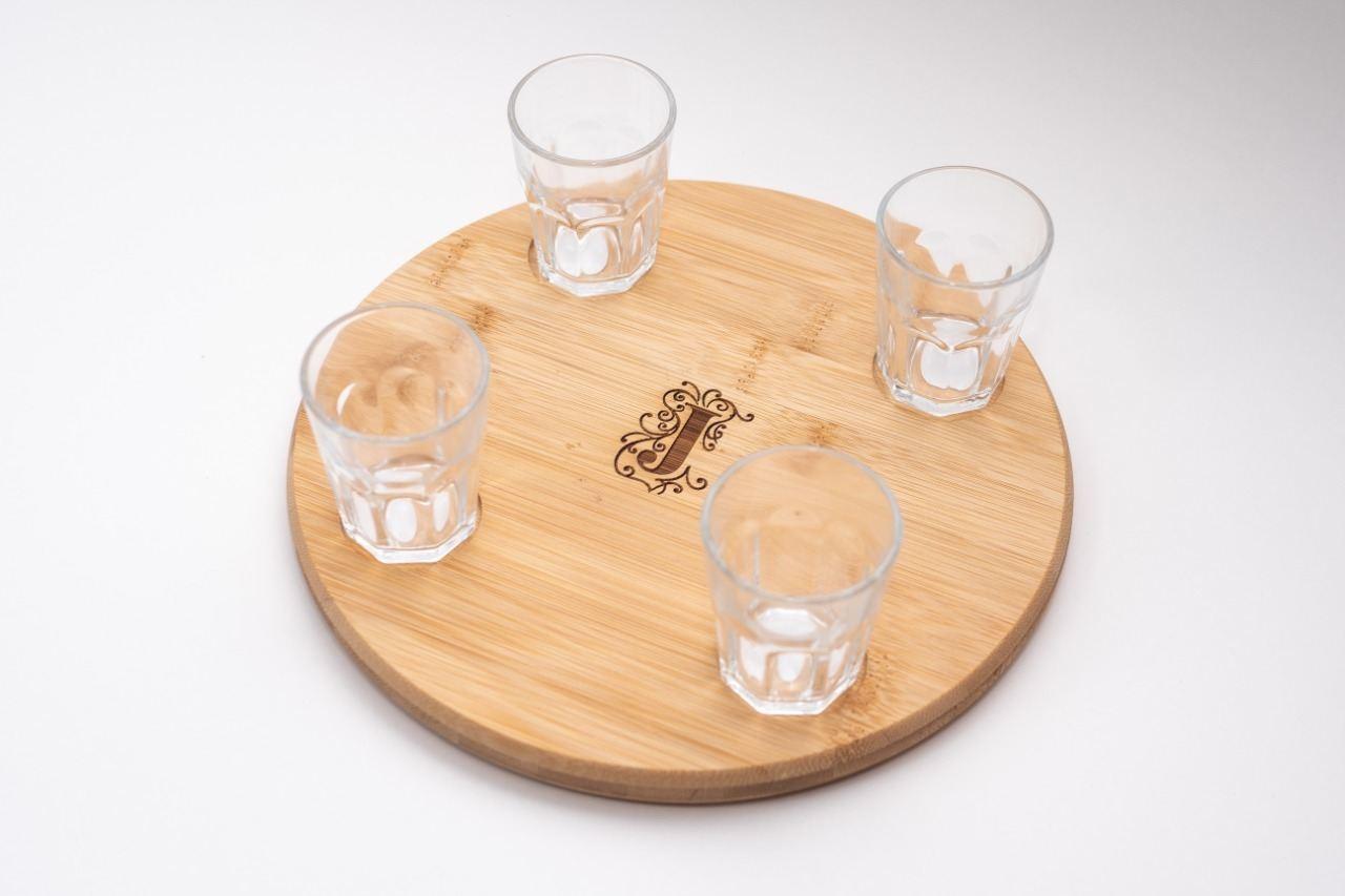 Conjunto com 4 copos para dose
