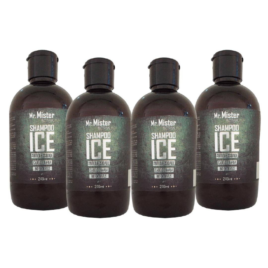 Kit 4 Shampoos ICE Antioleosidade