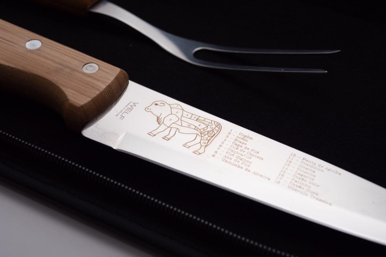 Kit Avental, faca e garfo