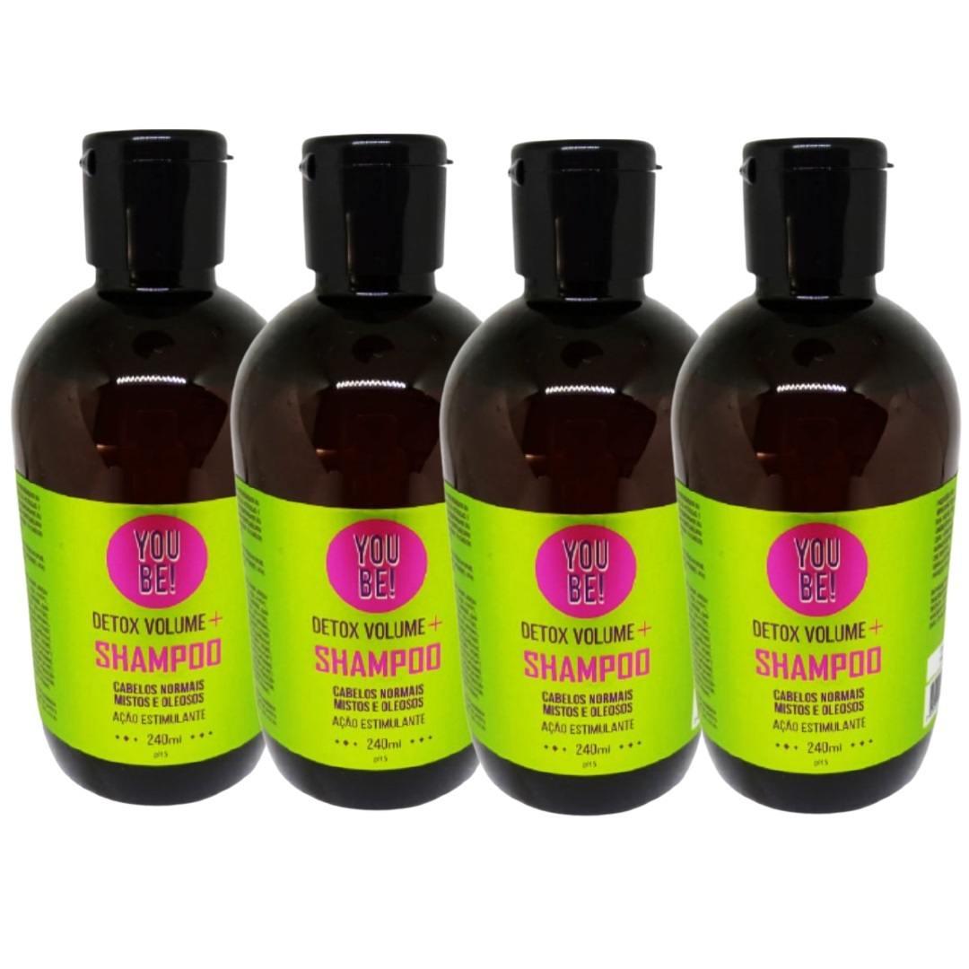 Kit Shampoo Volume + para Cabelos Finos, Mistos, Oleosos e sem volume - 4 unidades