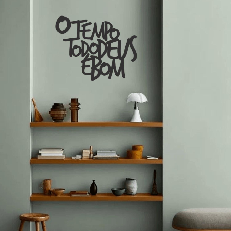 Lettering O TEMPO TODO DEUS É BOM