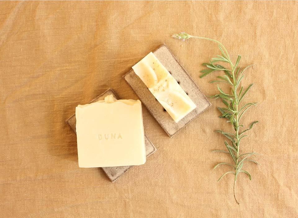 Sabonete Artesanal de Argila Branca e Lavanda
