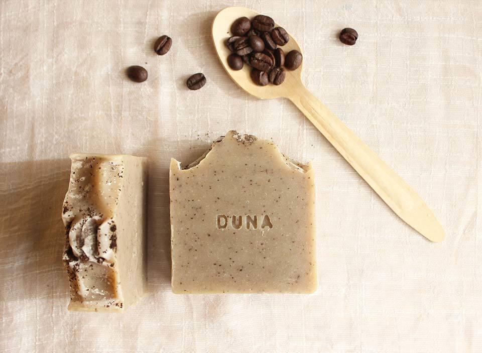 Sabonete Artesanal de Café e Eucalipto Limão