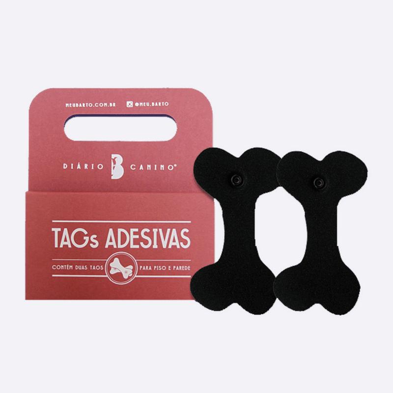 Tags Adesivas de Piso e Parede - para Diário Canino Mais+ e Médio