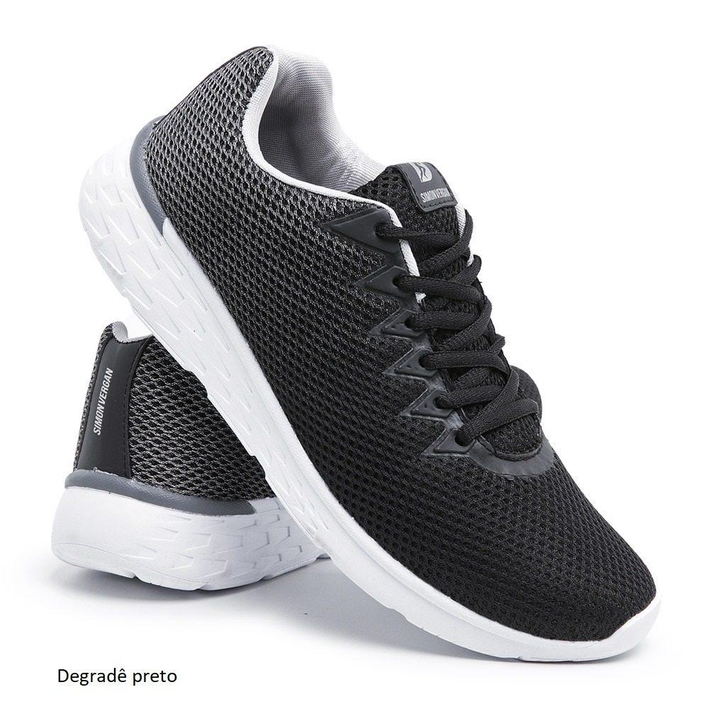 Tênis de Caminhada Leve e Confortável Degradê Cinza