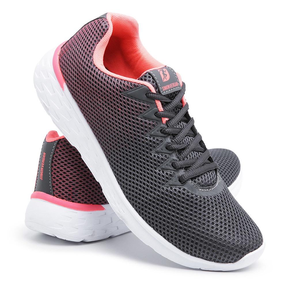 Tênis de Caminhada Leve e Confortável Degradê Laranja