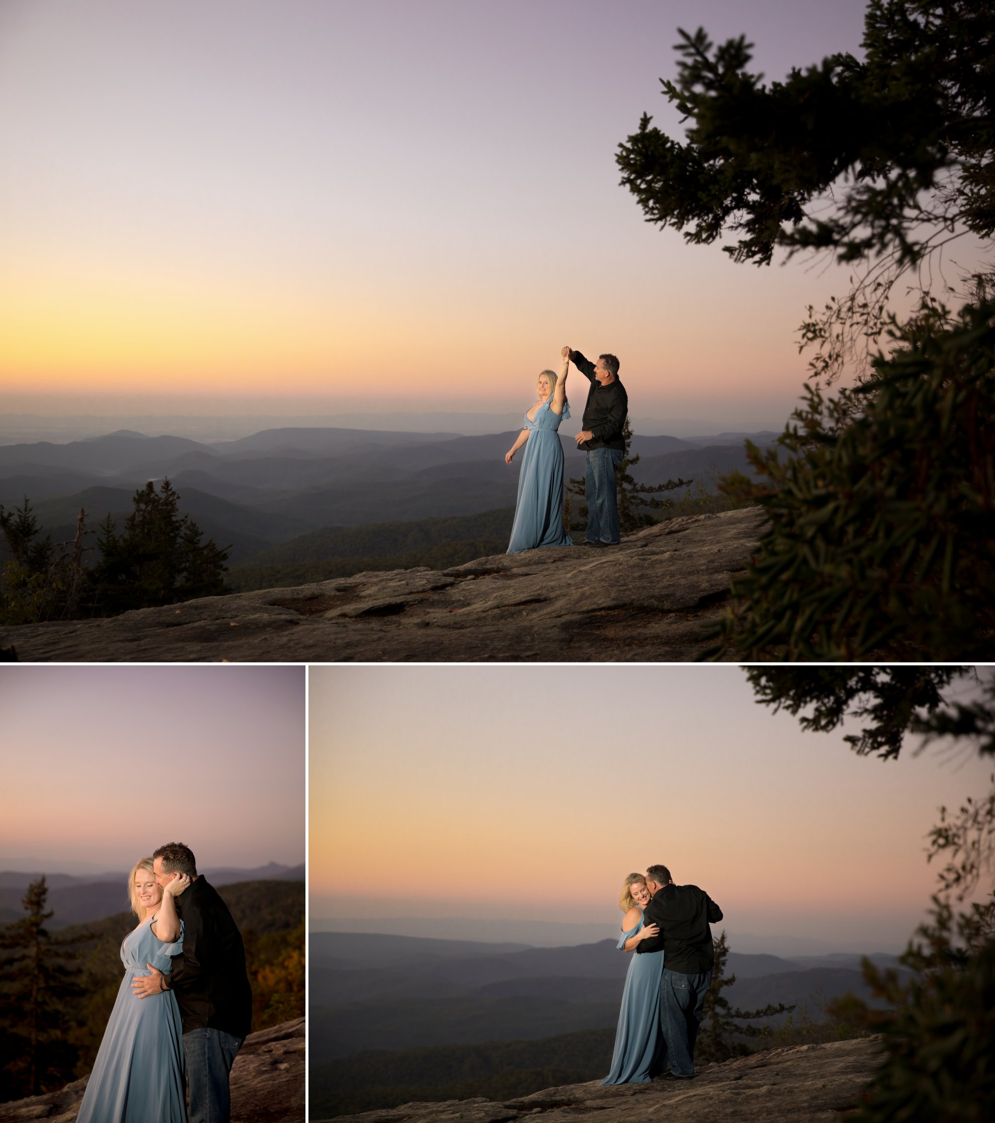 Shardae and Dan's Blue Ridge Parkway Engagement Portraits
