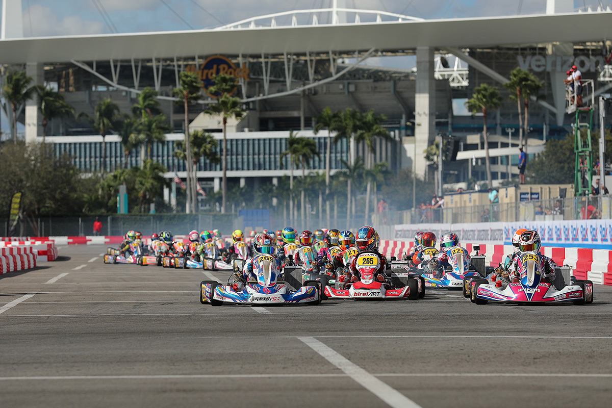 Start of Junior ROK race during 2019 Florida Winter Tour Round 1 Miami