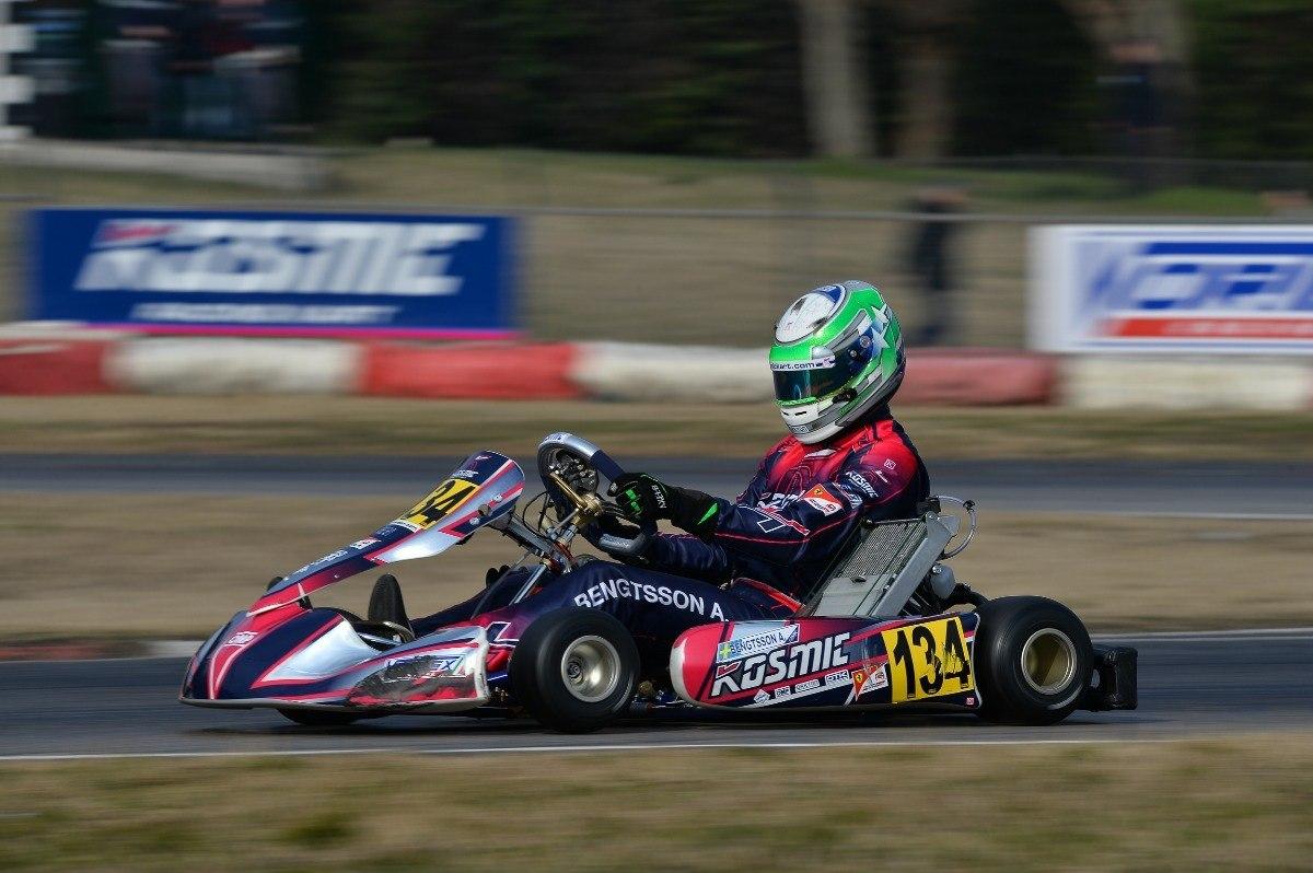 Kosmic Kart driver Axel Bengtsson