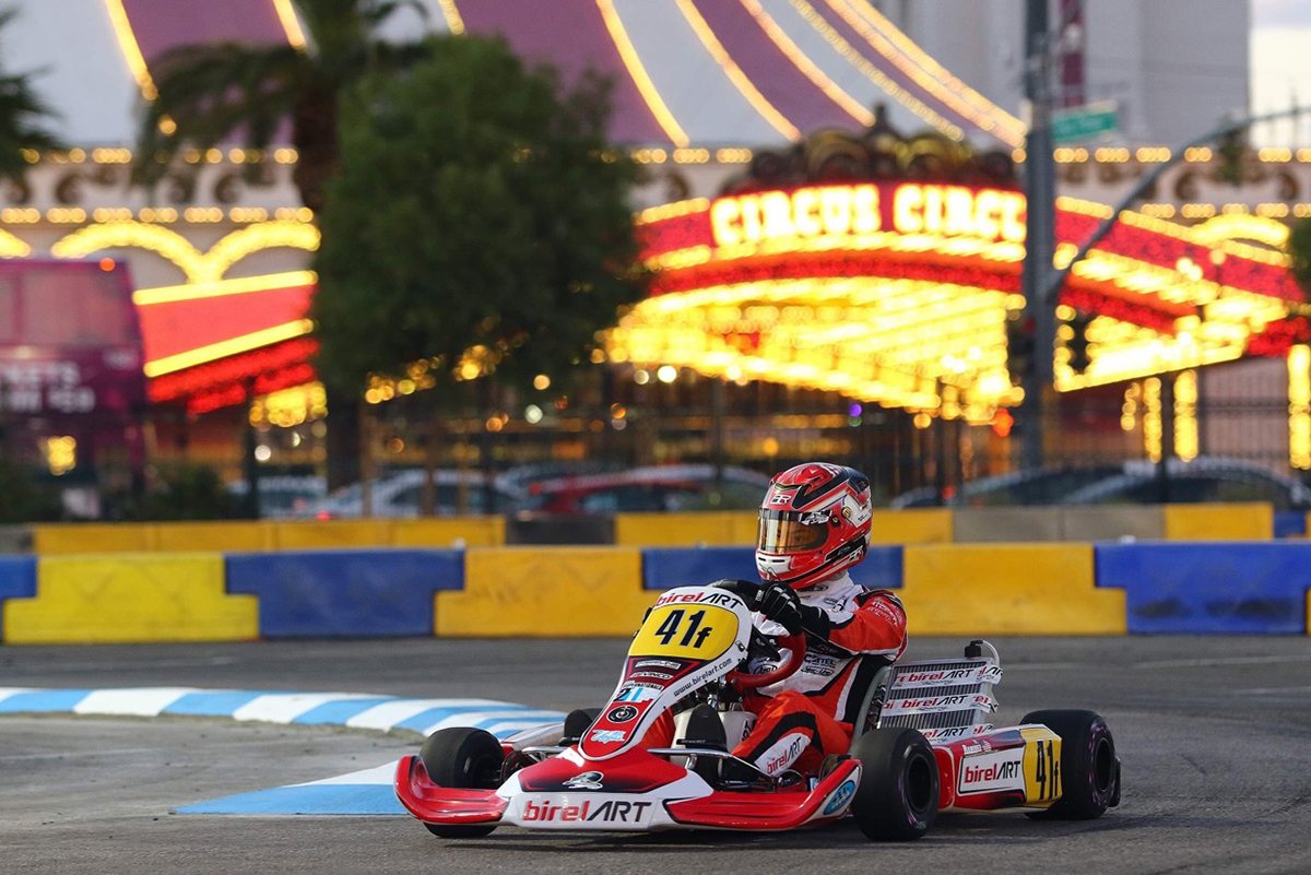 Mathiras Ramirez on the Birel ART in Las Vegas