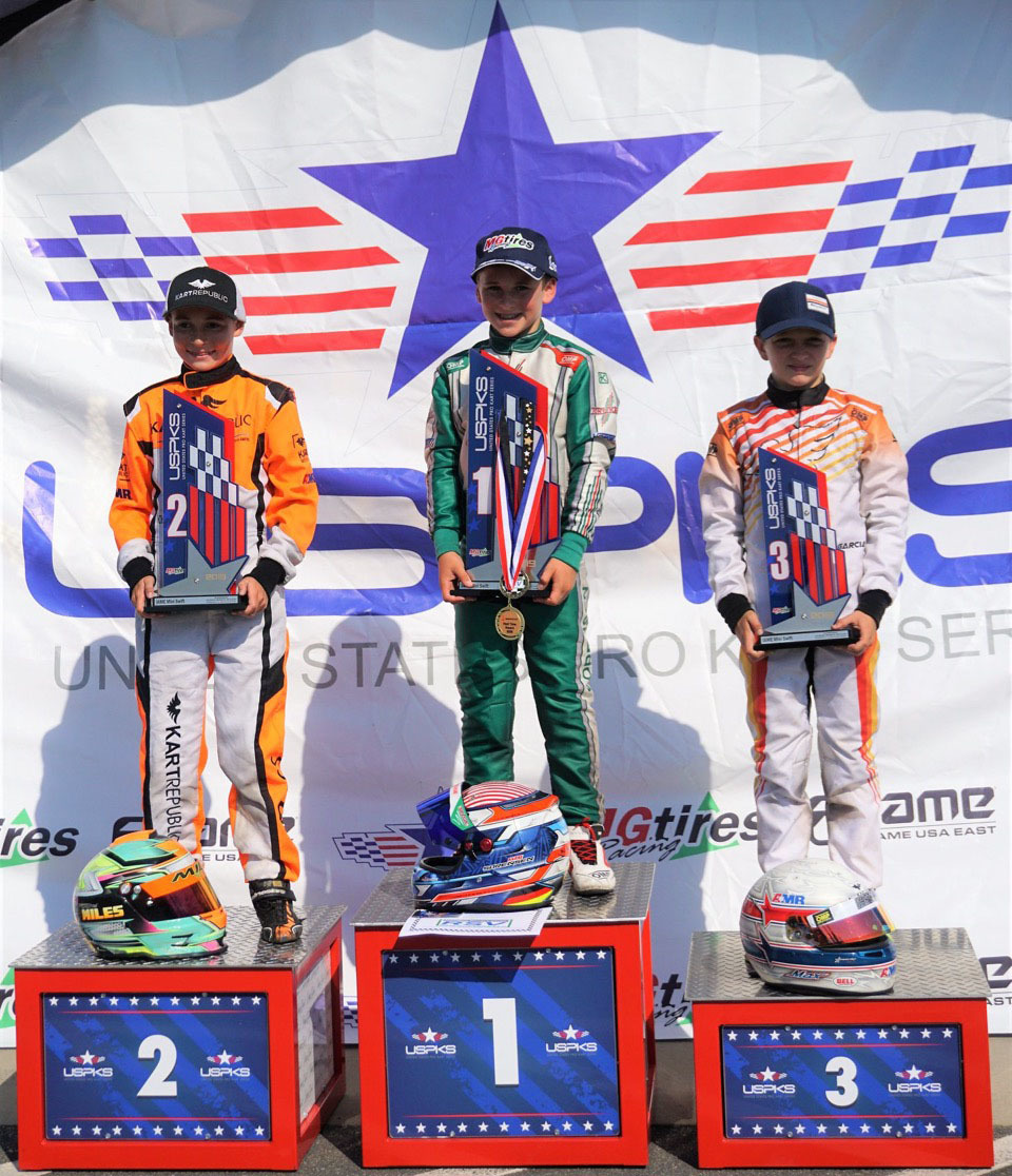 Mini Swift driver podium