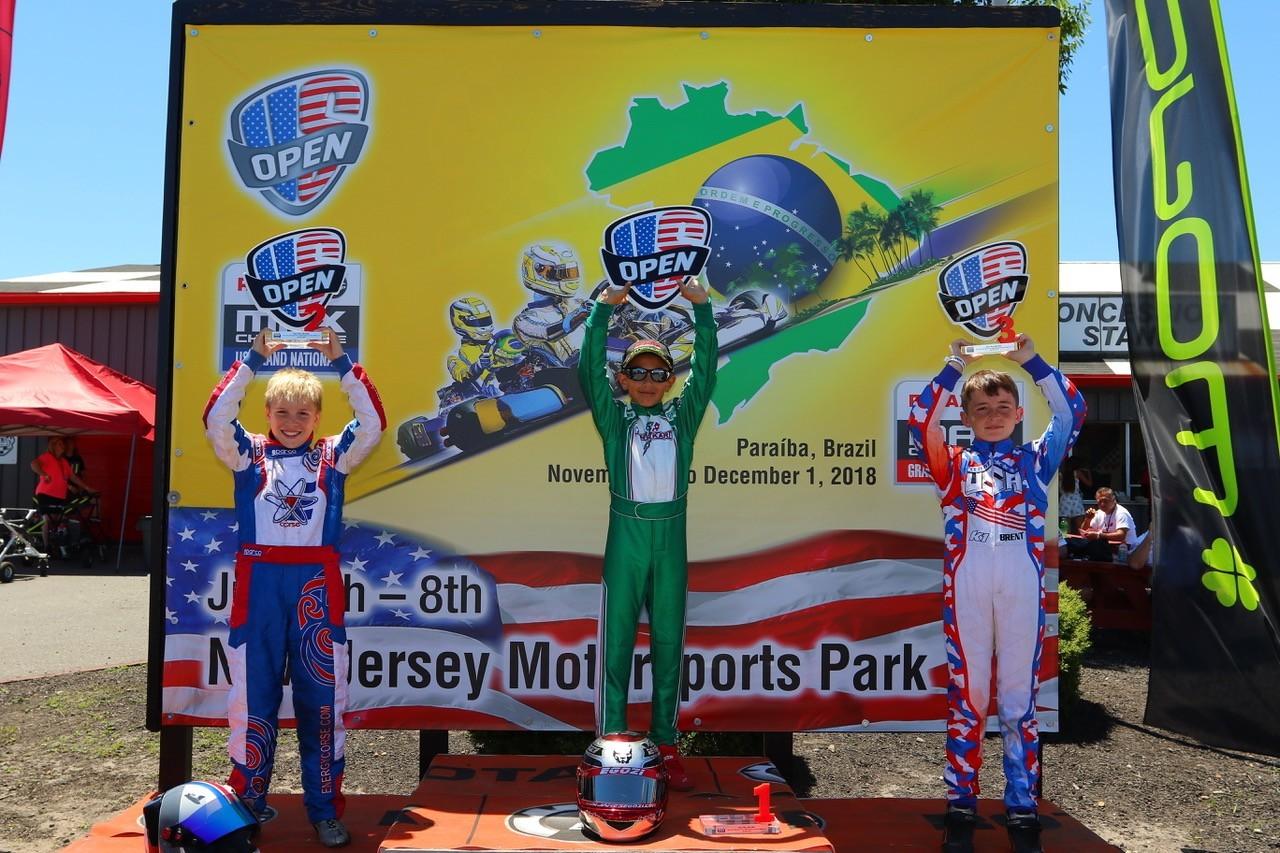Mini MAX podium at 2018 Rotax Nationals