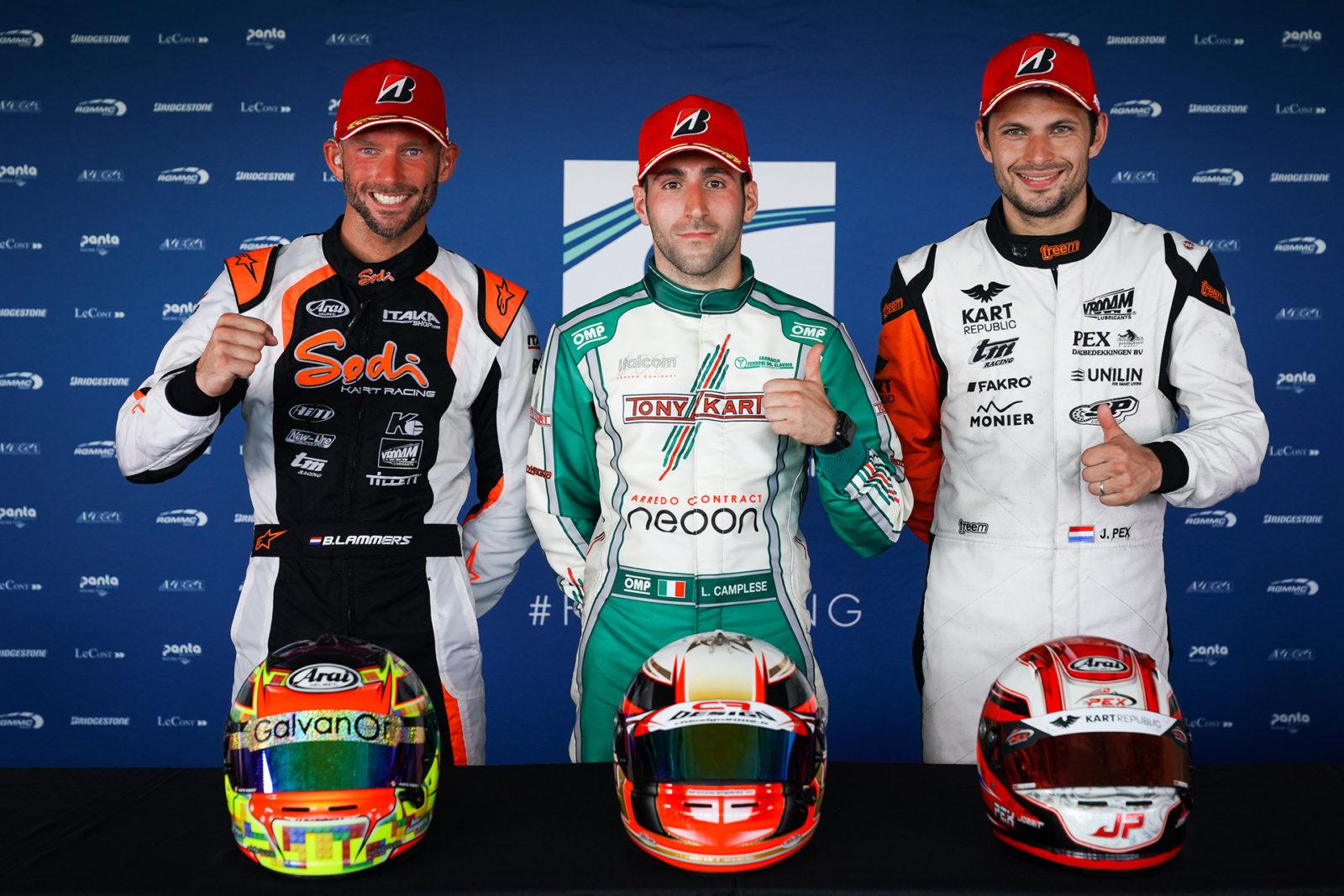 FIA Karting KZ European Championship Podium drivers