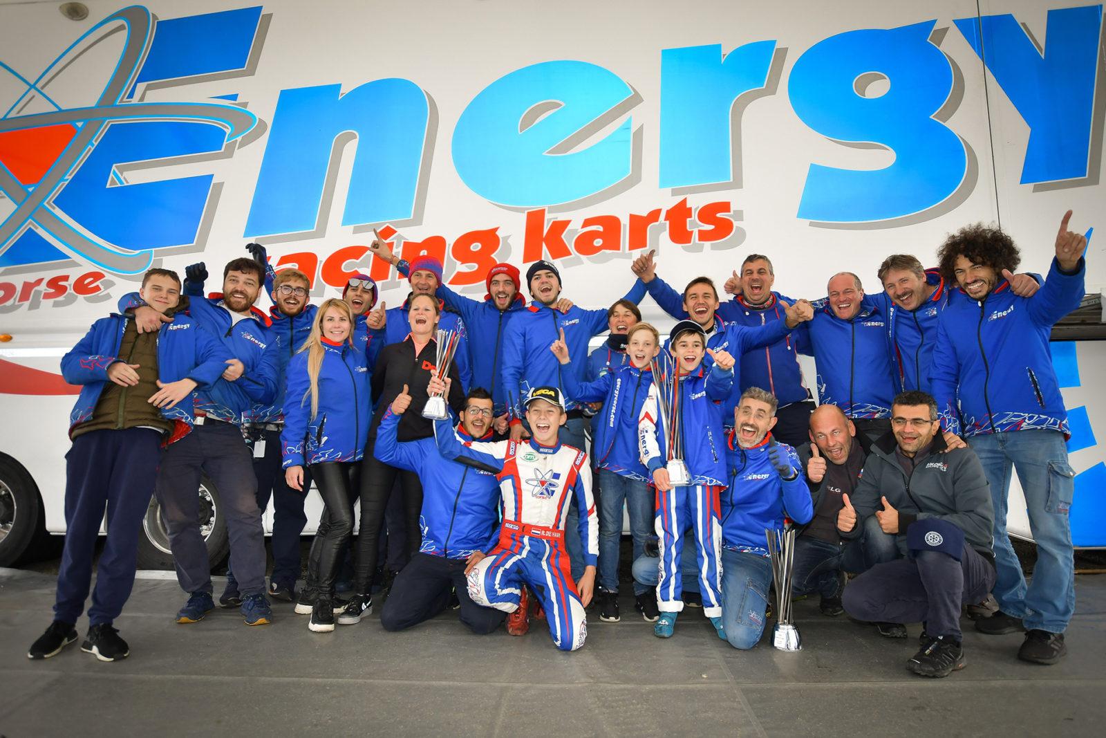 Energy Corse team celebrates